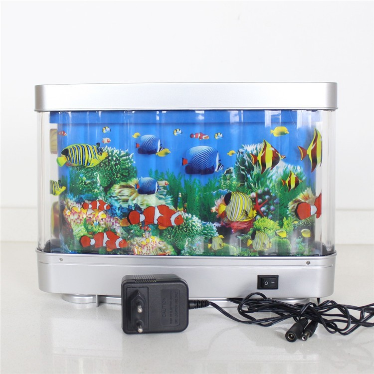 Swimming fake fish toys aquarium led light 12v beautiful for Fake artificial aquarium fish tank