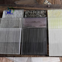 6.38mm decorative fabric laminated glass toughened fabric laminated glass fabric laminated