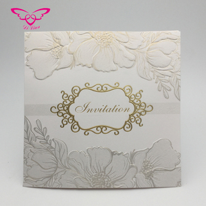 Tow Fold Screen Printing Indian Wedding Card Design
