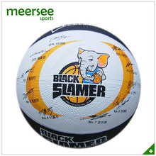 Official size 7 team sports natural rubber basketball