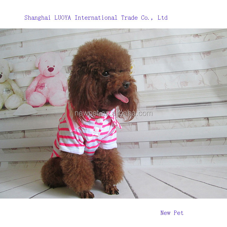 Excellent quality fashionable best summer dog polo t-shirt summer pet clothing dog clothes