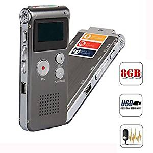 Umishion® Mini 8GB Digital Audio Voice Recorder Dictaphone MP3 FM Player Multifunctional in Grey Color