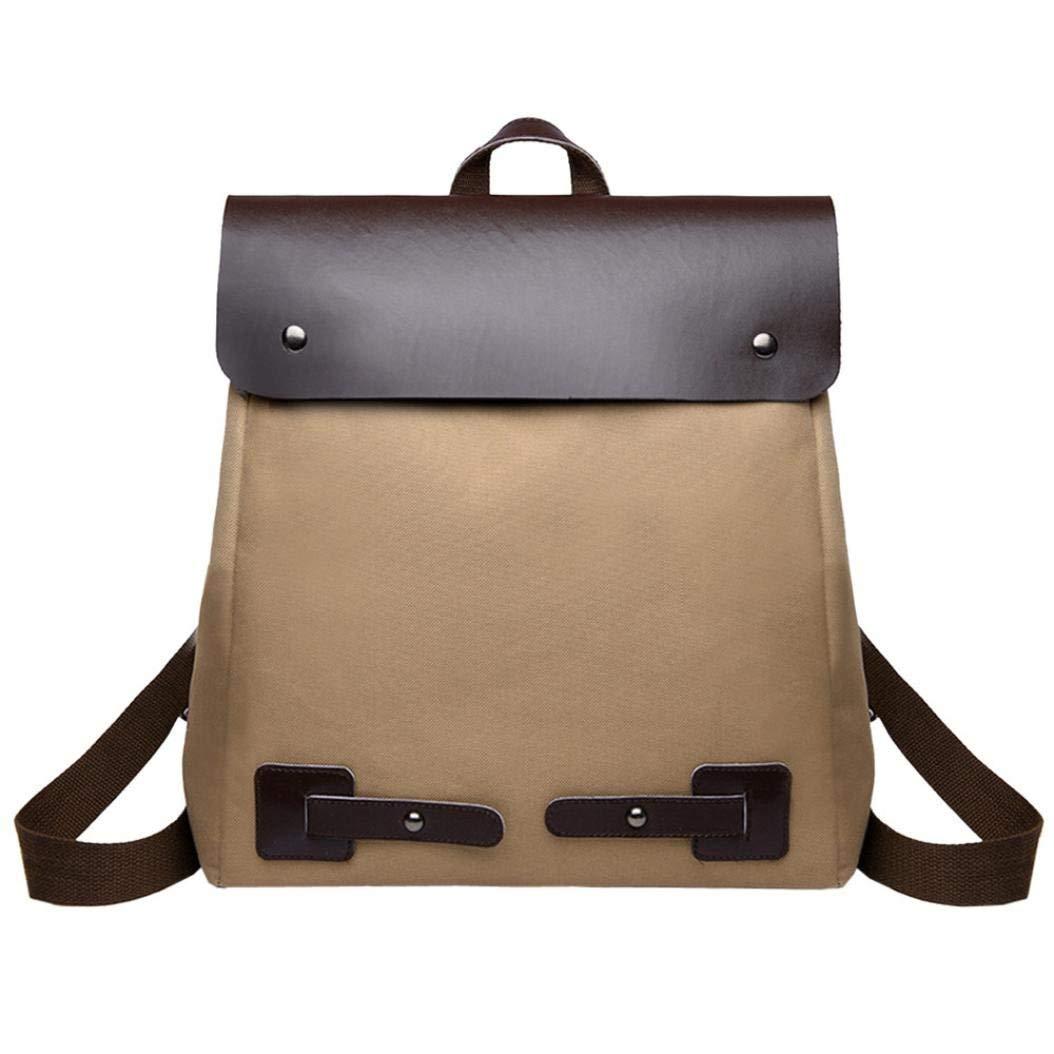 Vintage Women Student Patchwork Canvas Shoulder Bag School Bag Tote Backpack Messenger Bag Faionny