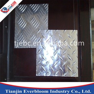 2A12 T4 Checked Aluminum Sheet 1.1 mm rib height 1.0mm