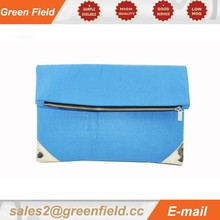 Plain fabric purses, foldable zipper plain fabric purses