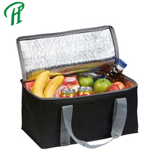 2018 Popular Non Woven Polyester Strong Aluminum Foil Laminated Handle Cooler Thermal Bag for Frozen Food