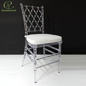 Factory wholesale special design modern wedding acrylic transparent chair