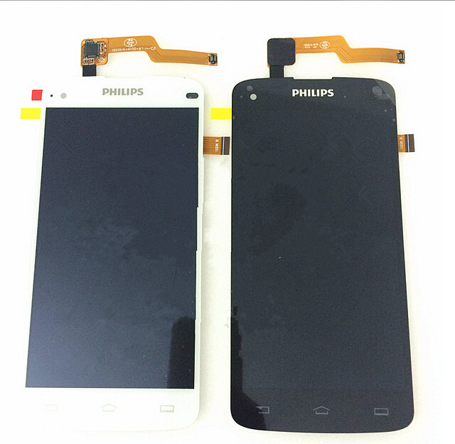 100% Original For Philips I908 LCD Display + Digitizer Touch Screen Replacement Cell Phone Parts
