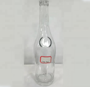 700ml thick bottom long neck wide round shoulder vodka glass bottle high clear spirtis alcohol for whisky XO brandy wine and rum