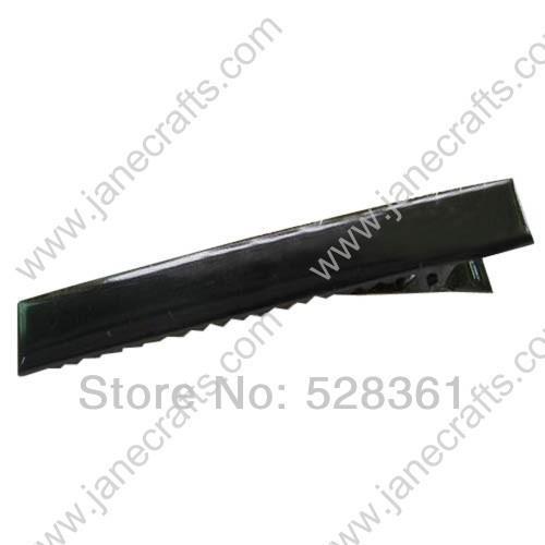 100 Pcs Wholesale 47mm 1 7 8 Inch Black Painted Rectangular Alligator Boutique Hair Clip Accessory