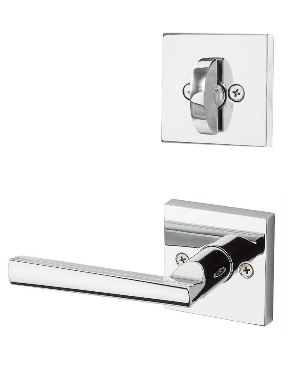 Kwikset 966L-26GC Laurel Interior Single Cylinder Handleset Trim Bright Chrome Finish with New Chassis