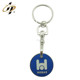 Cheap high quality metal custom supermarket shopping custom coin holder trolley token coins