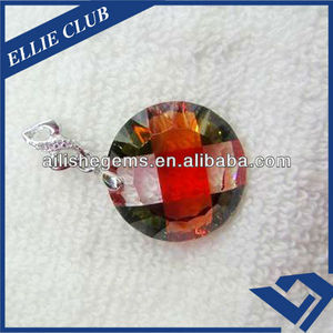 Arabic style slice synthetic cubic zirconia gemstone