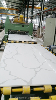 big slab of calacatte quartz stone,cut into size,countertop