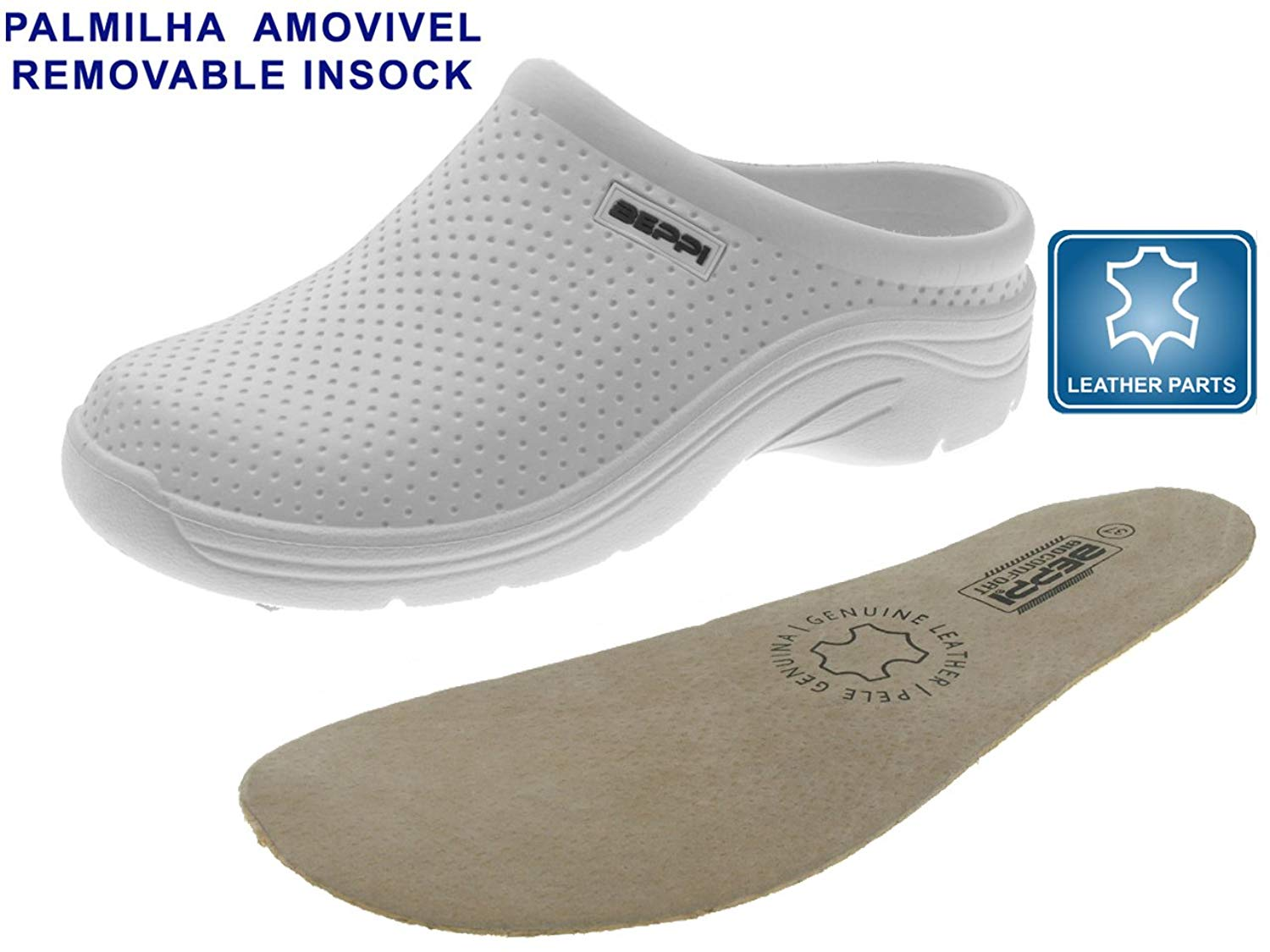 EVA Clog, Lightweight Breathable Leather Insole For Men & Women | Suitable For Medical Professionals, Warehouse & Office Use
