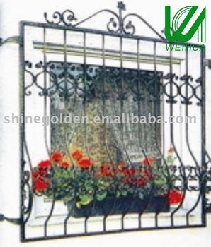 2016 top selling new window grill design buy iron window for Window grill design catalogue 2016