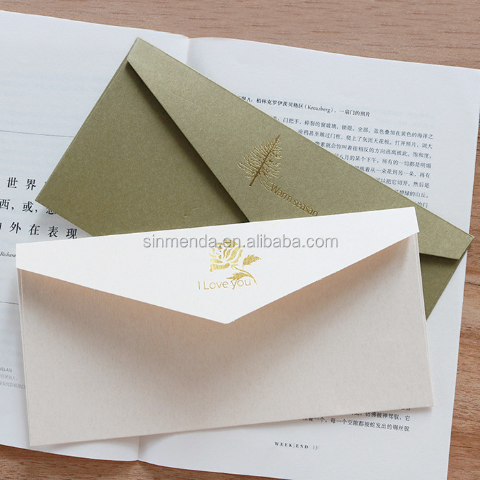 Custom design high end wedding envelopes for invitation card