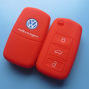 2015 hot best promotion silicone car key cover for vw key cover silicone key vw
