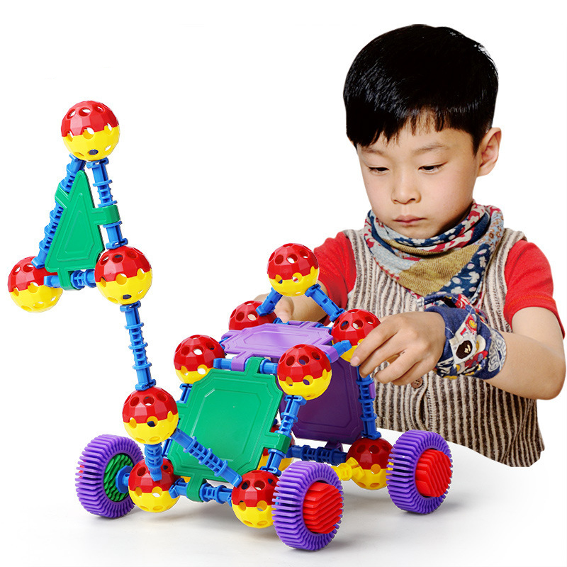 STEM Toys 36PCS  Educational Lacing Beads Toy Large Threading Beads Toys