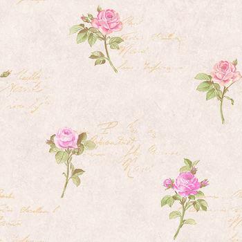 M 1211 English Handwriting Rose Wallpaper Internal Wall Finishing Material