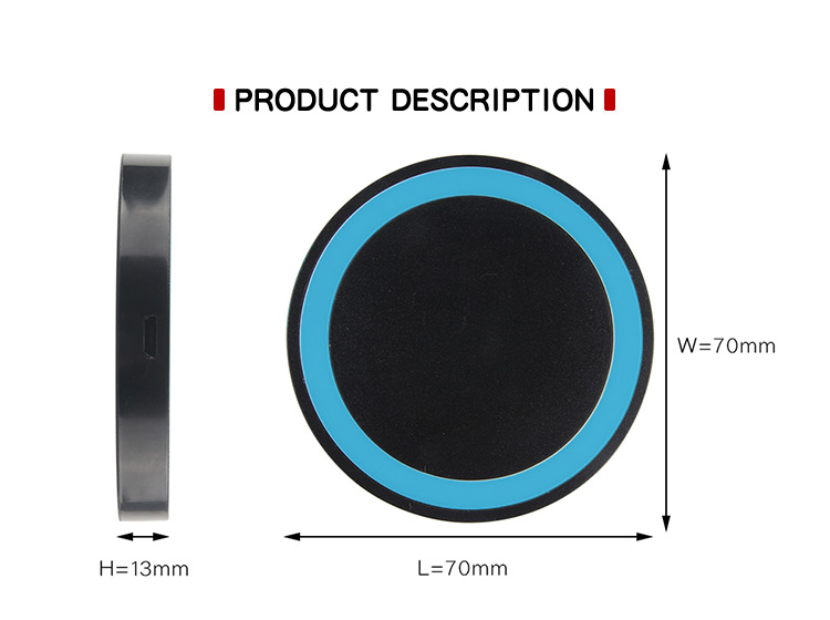 High Quality Cell Phone Mobile Q5 Wireless Charger Portable Wireless Charger