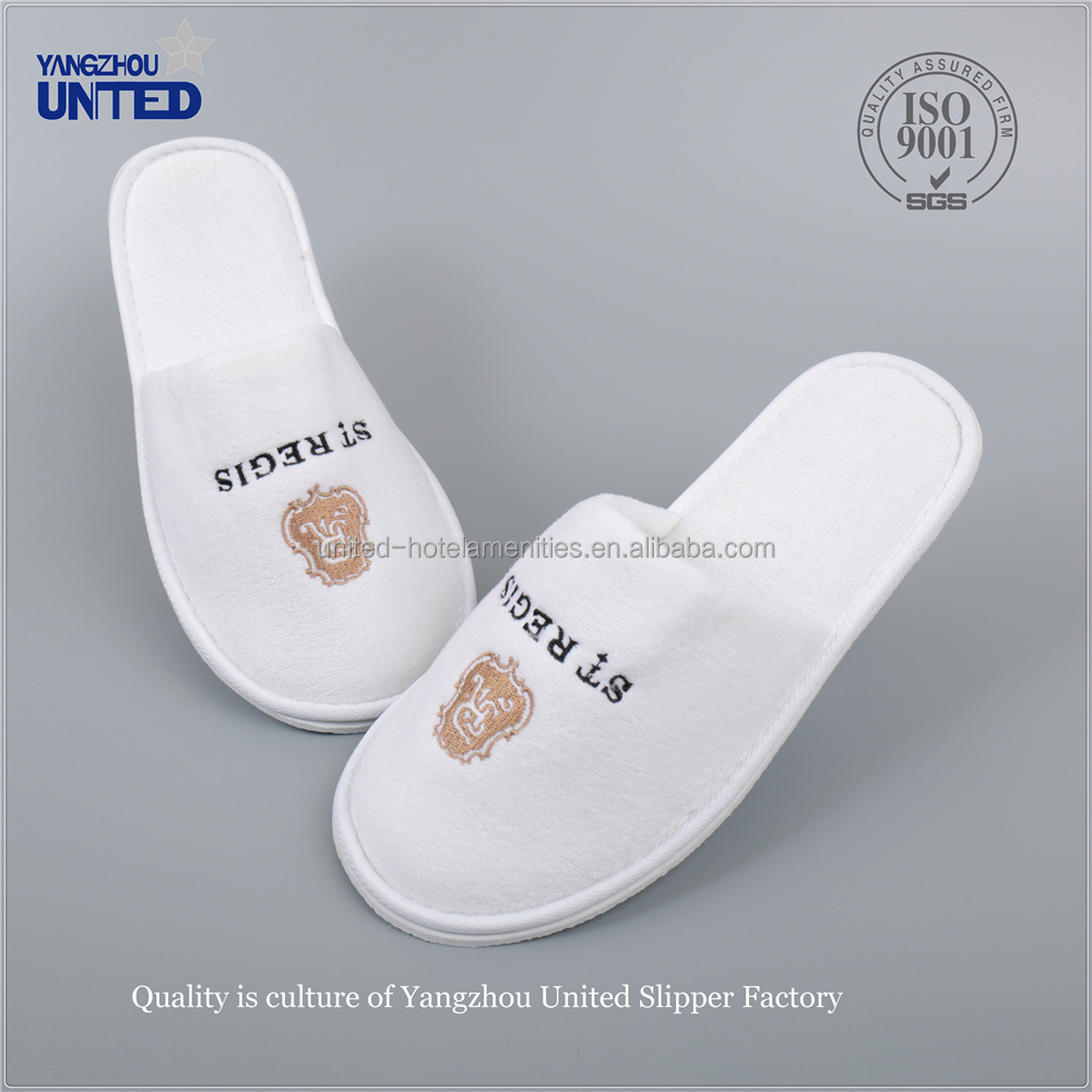 Customized Hospital slipper/Wholesale hotel slipper-White