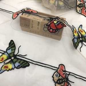 high quality water soluble butterfly Chemical embroidery mesh fabric