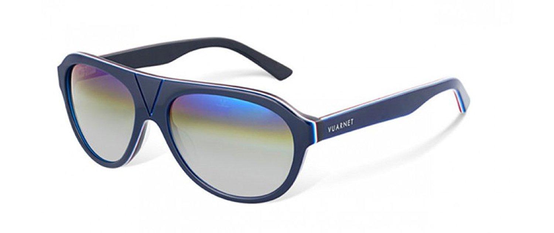 4f3fd7891d Get Quotations · Vuarnet VL1305P0291140 Sunglasses Blue Legend Gray Mirror  CityLynx Glass Lens