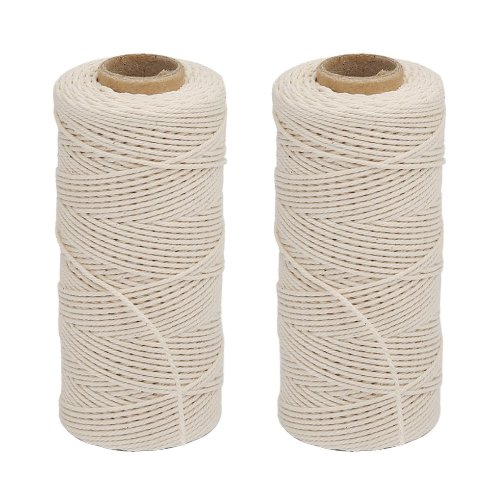 Bright Orange White WINGONEER® Black WINGONEER 4pcs 100M Wine String Durable Cotton Bakers Twine Heavy Duty Cotton Crafts Twine 2 mm for Packing Twine String Decorations