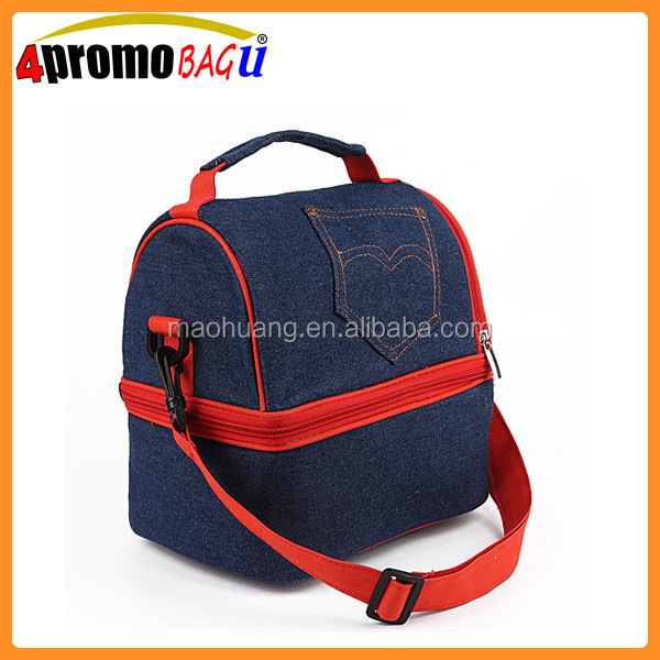 China jeans insulated cooler bag wholesale lunch bag