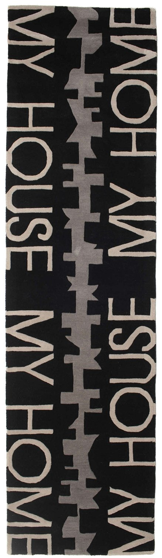 "My House, My Home rug 2'7""x9'10"" (80x300 cm) Modern, Runner Carpet"