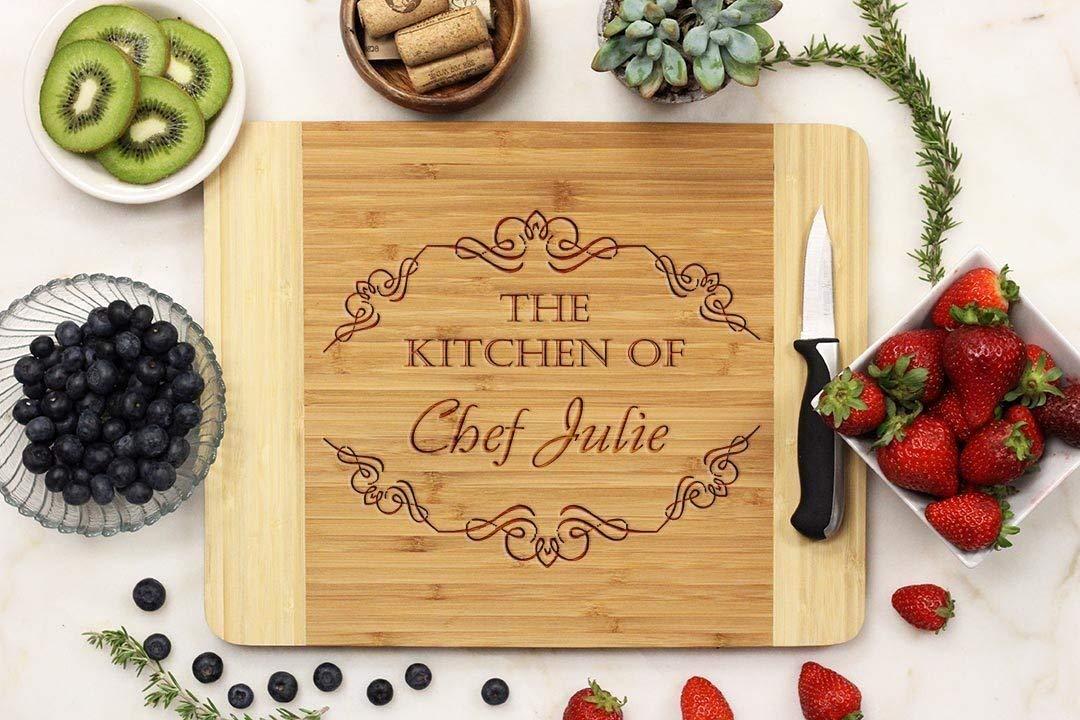 Personalized Cutting board, Custom cutting board, Custom Engraved cutting board, Bamboo Wood 11 x 14 -21069-CUTB-001