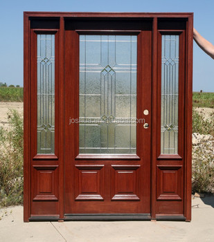 Mahogany exterior entry doors with 12 open sidelights for Mahogany door skin