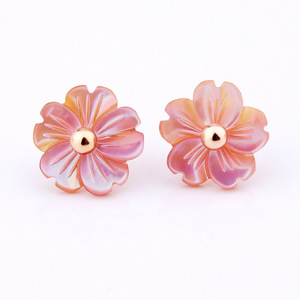 fashion jewelry 2017 earrings bijoux women stud with glass material