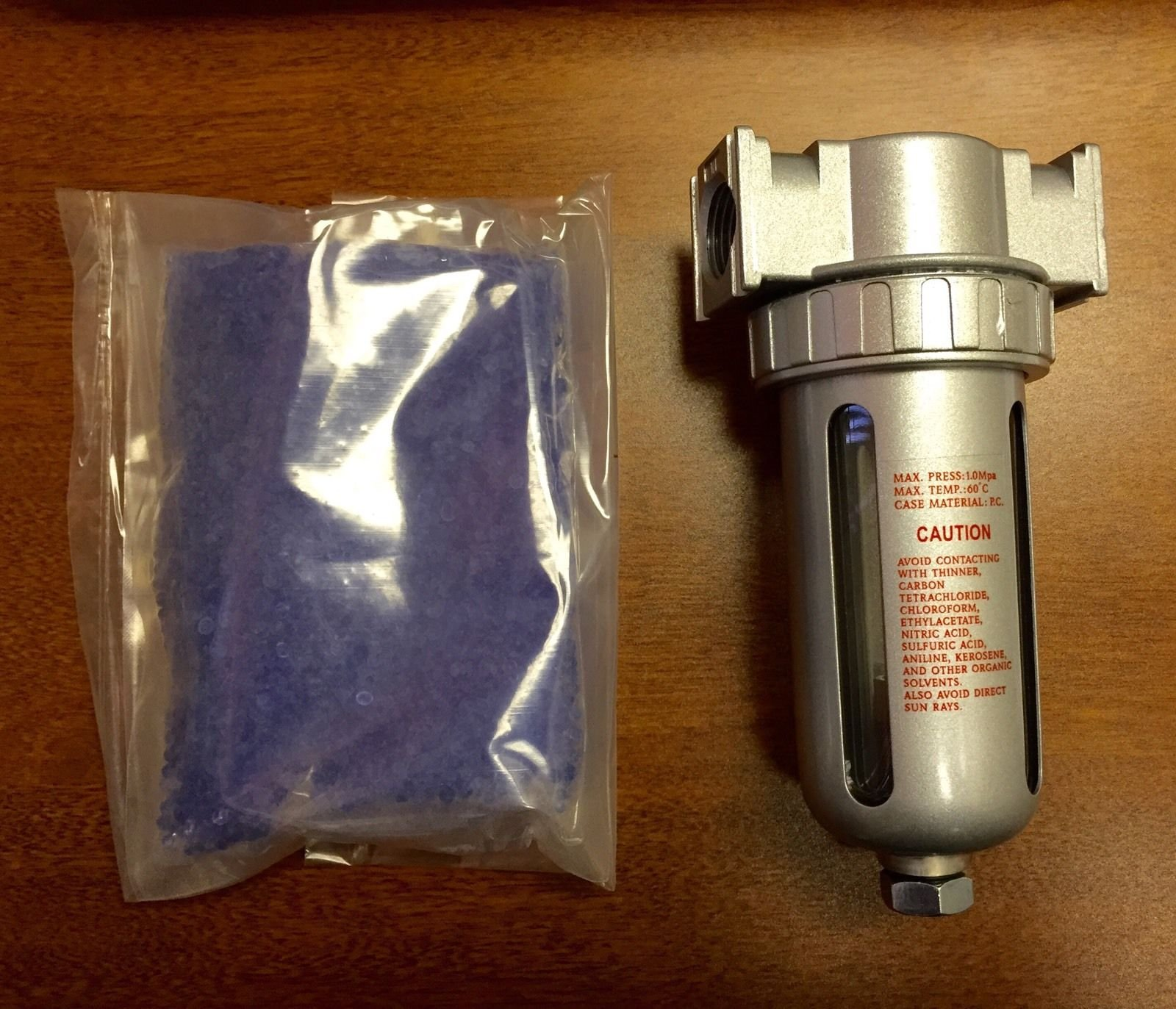 "Get Quotations · 1/2"" Compressed Air In Line Filter Desiccant Dryer Moisture Water Separator New"