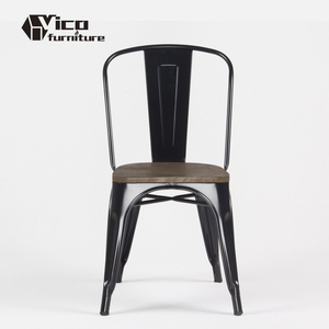 Wholesale industrial vintage design restaurant cafe bistro metal wood seat chair