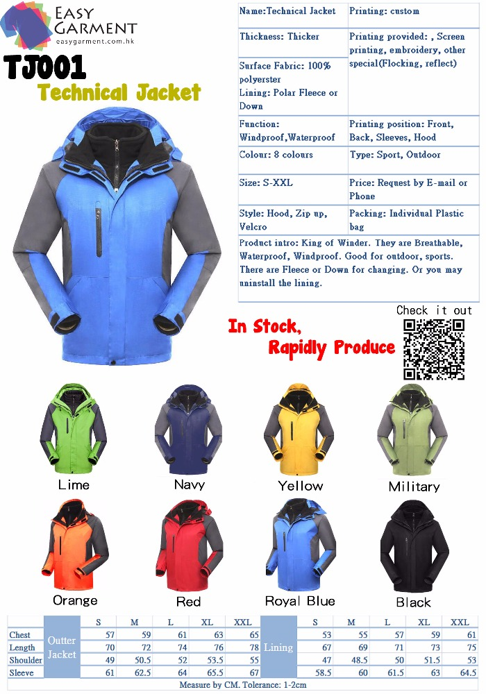 Custom Logo Screen Printing hiking outdoor technical Windbreaker Jacket