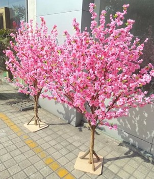 New Design Artificial Pink Cherry Tree White Blossom Branches Party Decor