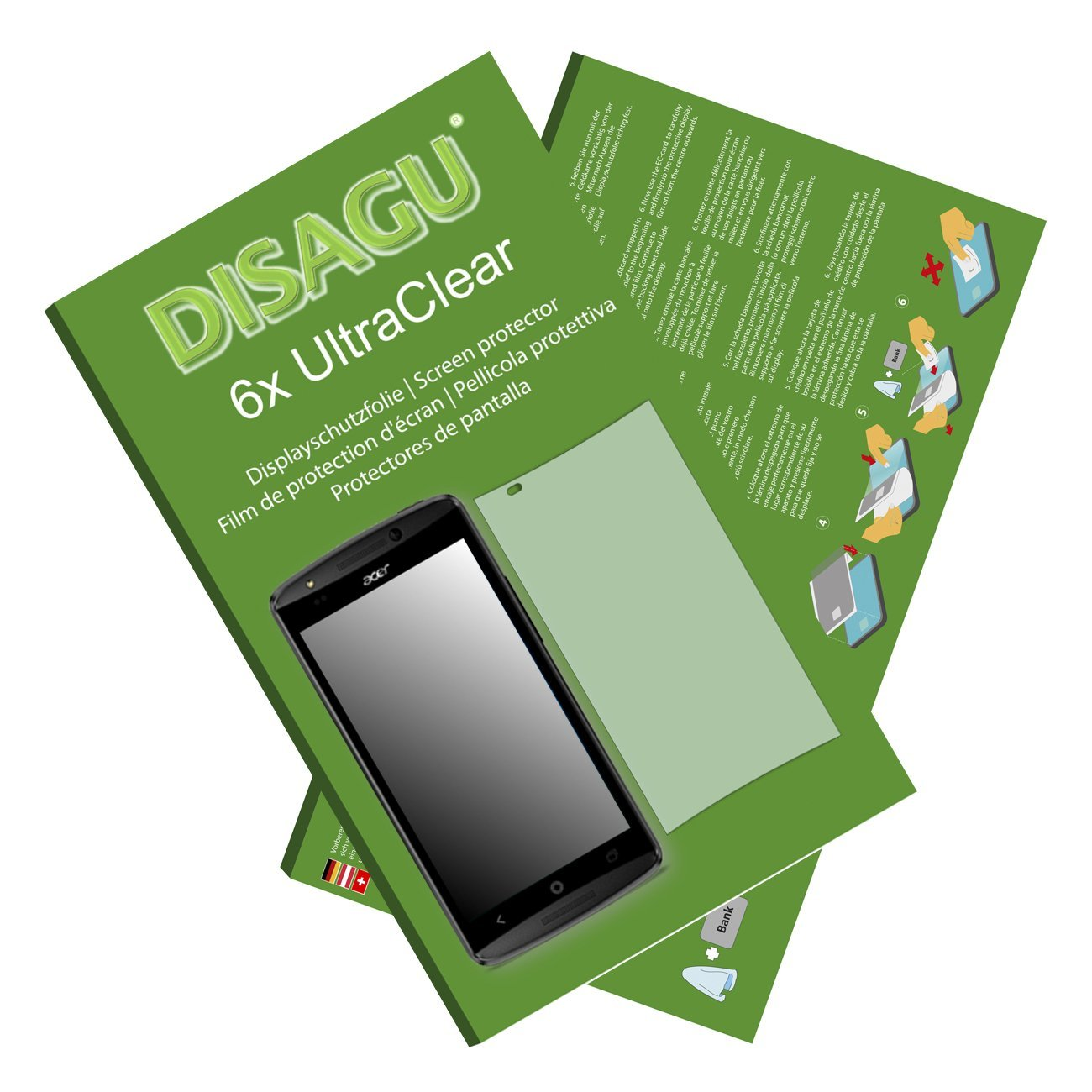 6x Ultra Clear Screen Protector for Acer Liquid E700 Trio