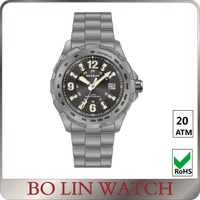Titanium Lume Hands Watch Interchangeble Strap