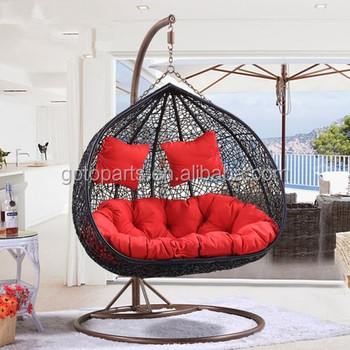 Merveilleux New Double Swing HANGING SWING EGG CHAIR/ 100% Handmake Rattan /Rattan  Indoor OUTDOOR