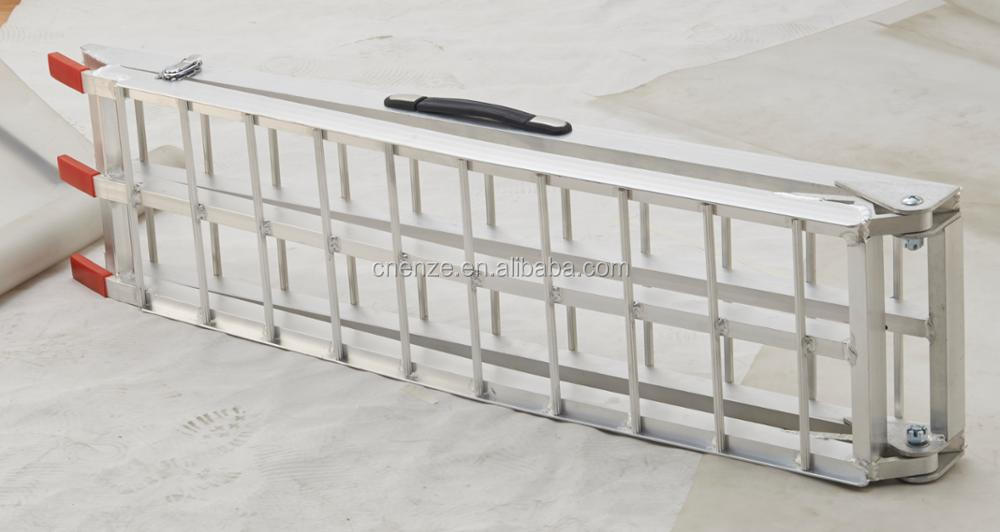 Aluminum Folding Ramps >> Mobile Aluminum Folding Atv Lawnmower Truck Loading Ramps Arched