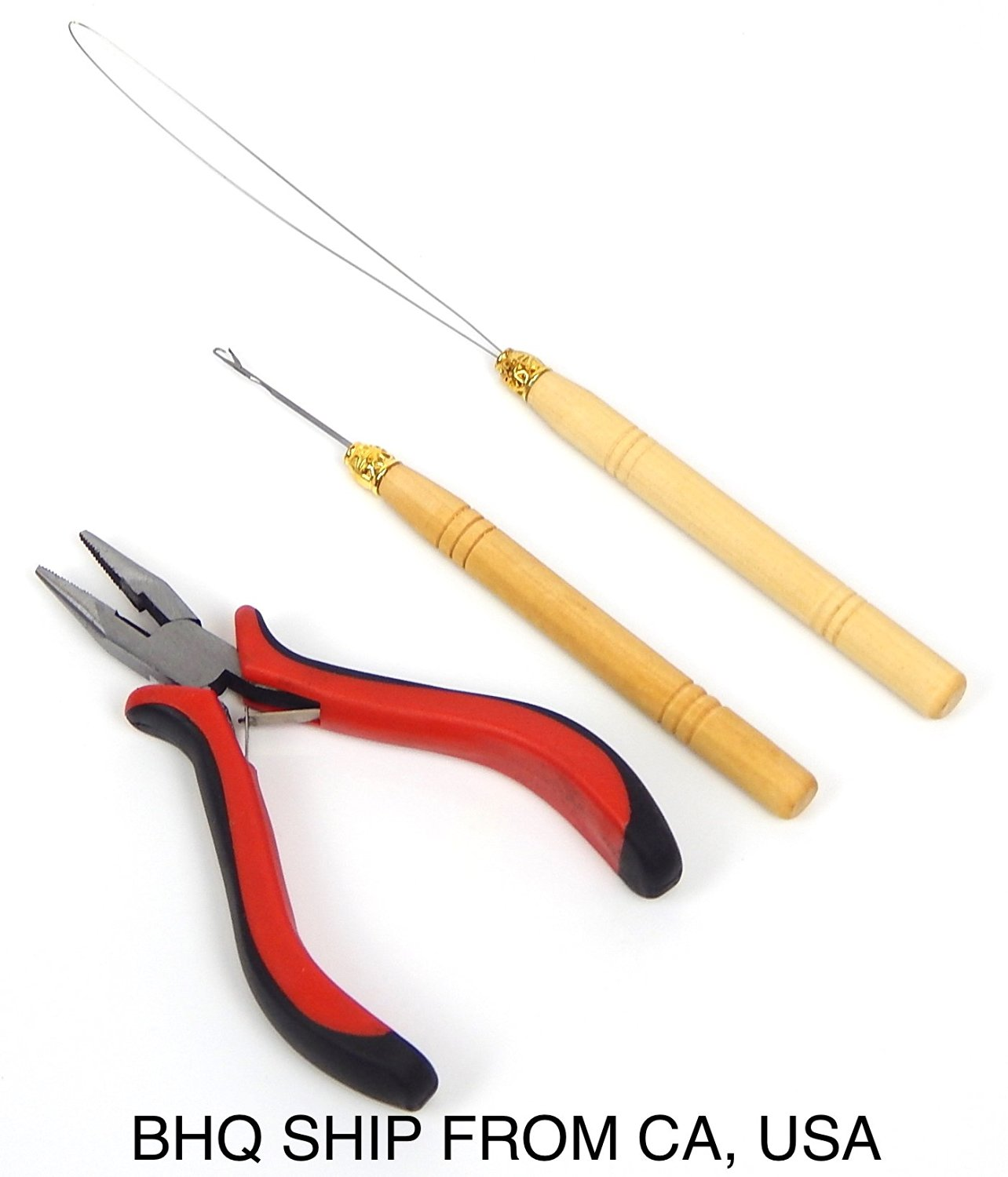 Ring Wood Loop Pulling Needle For Indian Brazilian Loop Hair Extension Plier Hair Care & Styling