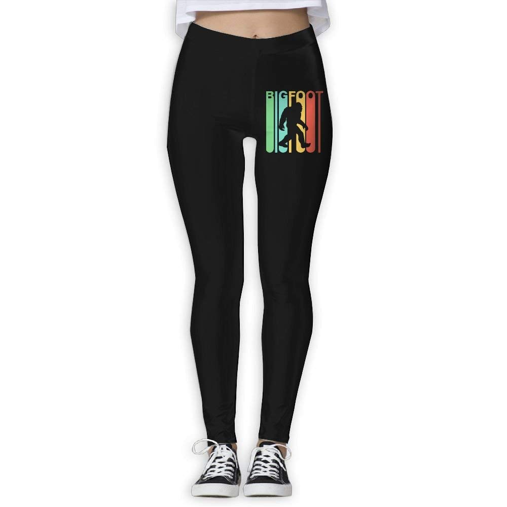 DDCYOGA Retro Style Bigfoot Silhouette Womens High Waist Yoga Leggings Fitness Yoga Sport Pants For Girls