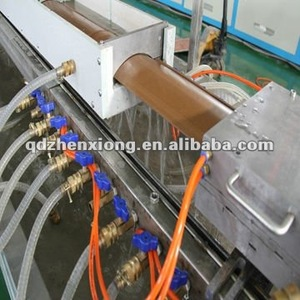 PVC WOOD PLASTIC COMPOSITE MAKING MACHINE WPC DECKING BOARD EXTRUDING LINE