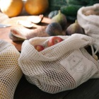 Muslin and Mesh Drawstring Pure Cotton Organic Biodegradable Produce Bags Set Reusable Recycled Storage Cloth Stitched Woven Bag