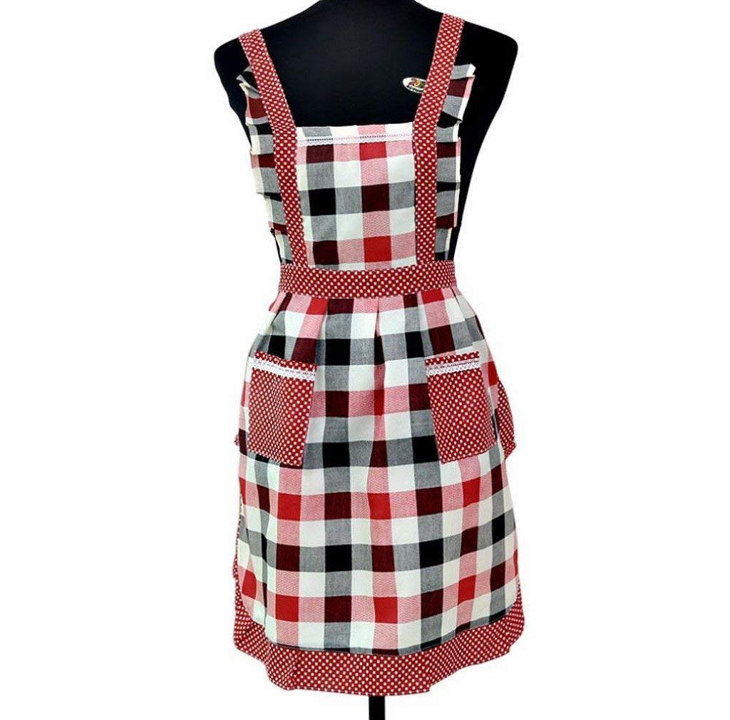 Morecome Women Restaurant Home Kitchen For Pocket Cooking Apron Bib