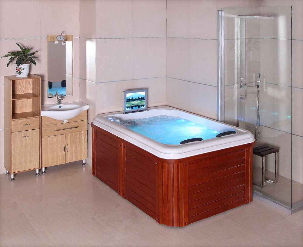 Hs-spa291y Two Lounge 2 Person Mini Indoor Spas Hot Tubs Bathtub ...