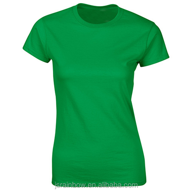 Wholesale girl lady 100% cotton 22 colors blank plain customized design OEM logo women t shirt