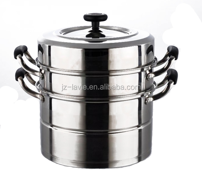 stainless steel 201 kitchenware double layer mini food steamer pot